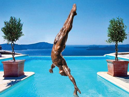 Danielle Anjou Sculpture - Diver