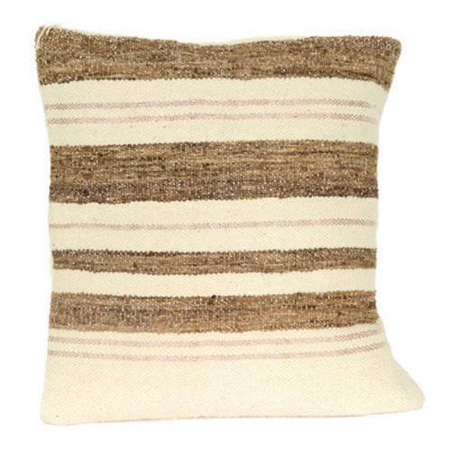 Aviva Stanoff Wild Silk in Chalk Cushion