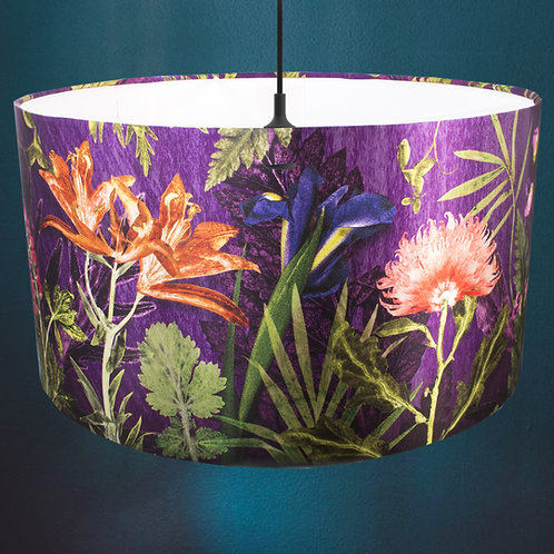 Gillian Arnold - Purple Whisper   Purple & Orange Light Shade For The Dining Roo