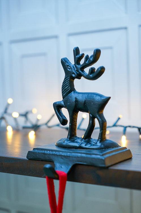 Stocking Holder Deer - Black - 17cm