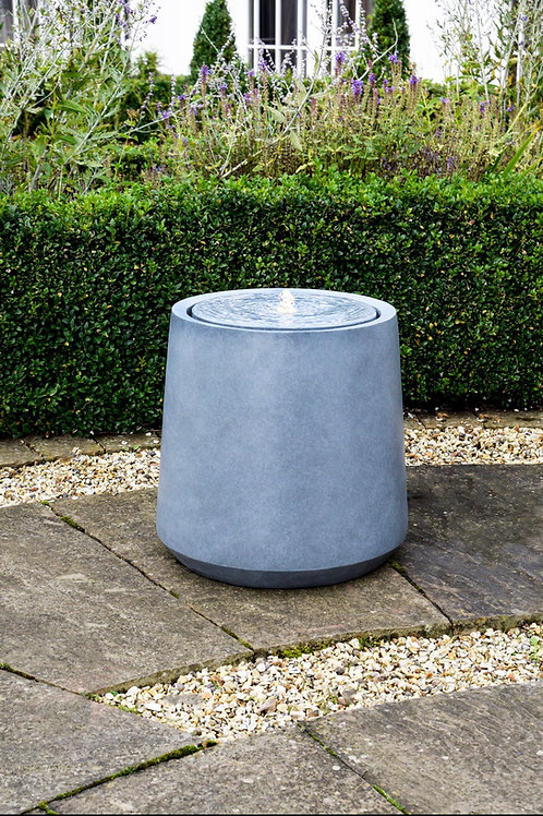 LED Round Garden Water Feature