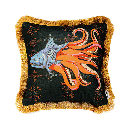 GuanAnAn He Luo Cushion - in Black