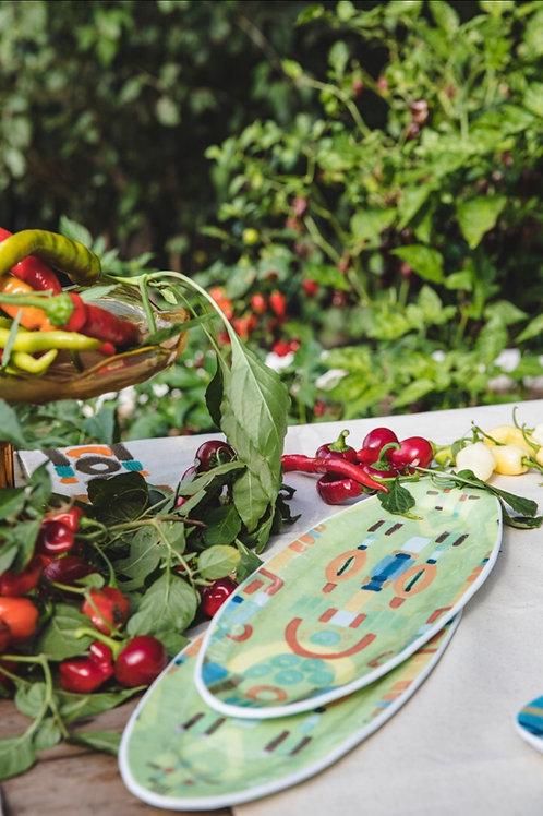 Le Botteghe d'Arte - Tray Colours Murano Plate - White Glass - Green