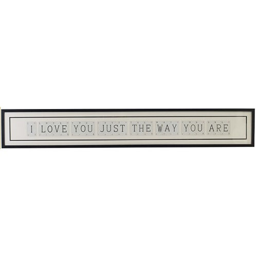 Vintage Playing Cards Frame - I love you just the way you are