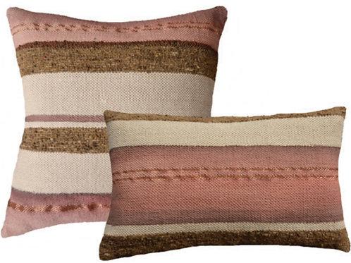 Pink Strip Woven Cushion