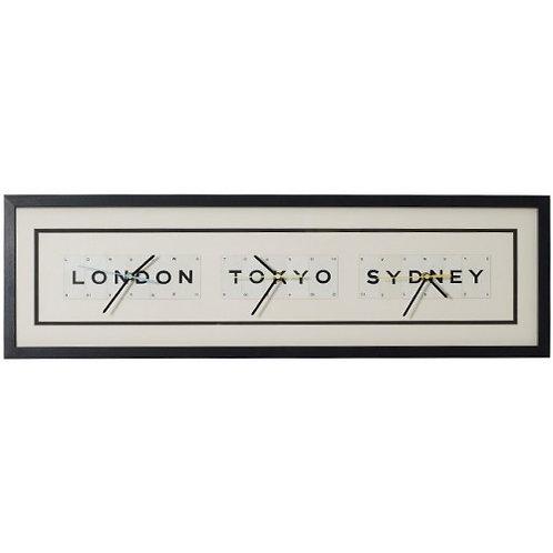Vintage Playing Cards World Clock - London Tokyo Sydney