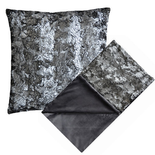 Aviva Stanoff Frost Pyrite Fur Cushion