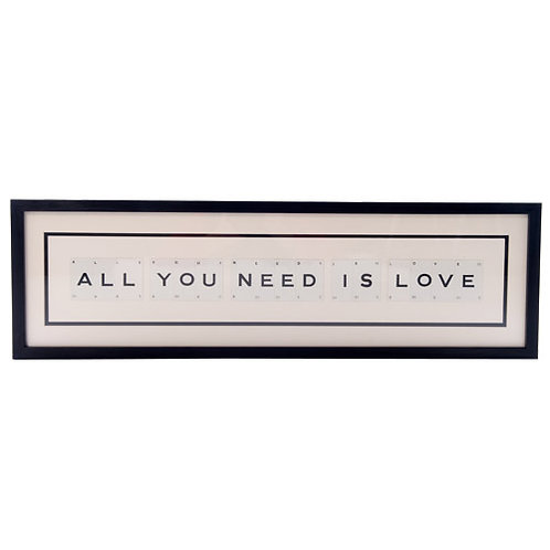 Vintage Playing Cards Frame - All you need it love
