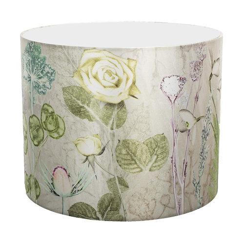 Gillian Arnold - Mother's Silver Bouquet | Silver & Green Lamp Shade