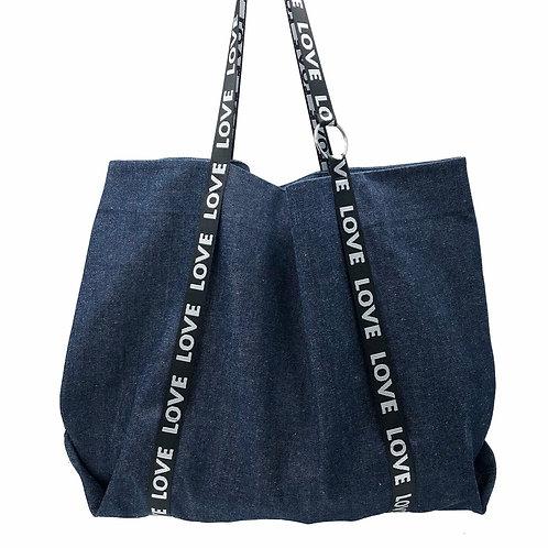 Stranger Than Them - Big Love Denim Tote Bag