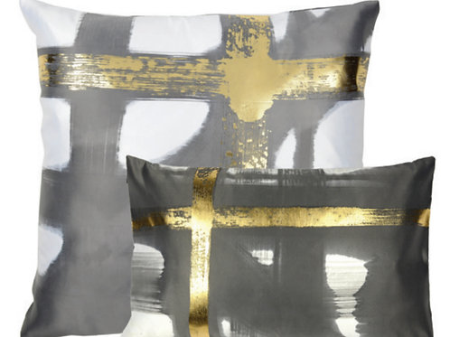 Aviva Stanoff Mod Art in Créme in Gold Cushion