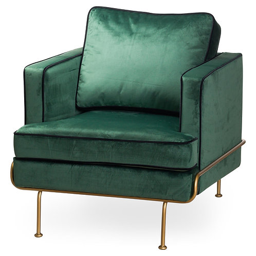 Arden Emerald Green Velvet Arm Chair