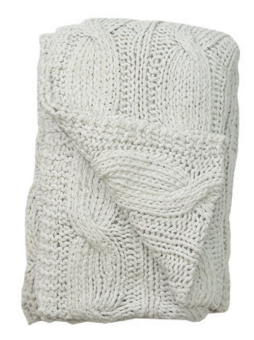 Aviva Stanoff Cotton Cable Knit Natural