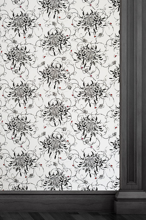 Susannah Weiland Collections Entangled Chrysanthemums Wallpaper
