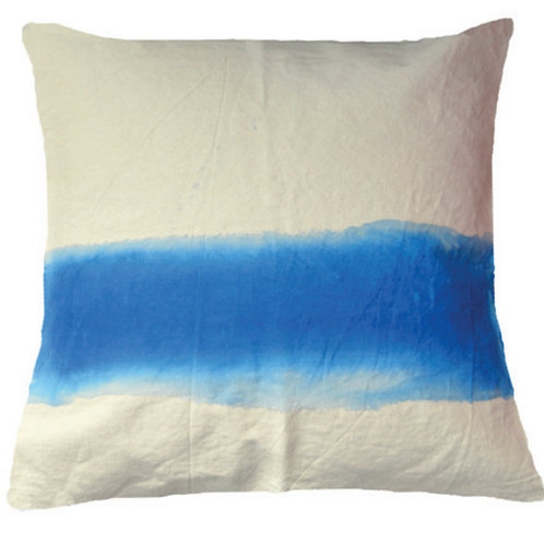 Aviva Stanoff Mod Art in Horizon in Azure on Canvas Cushion