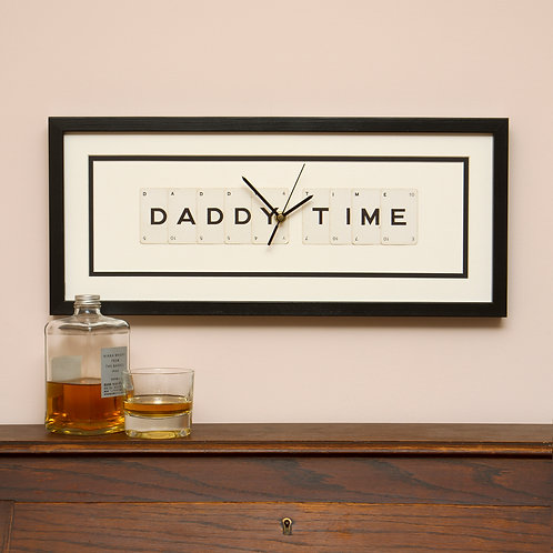 Vintage Playing Cards Clock - Daddy Time Clock