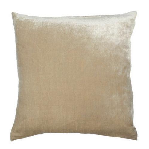 Aviva Stanoff Solid Silk Velvet in Steel Cushion