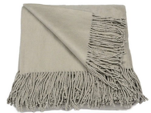 Aviva Stanoff Silk Fleece Throw in Smolder