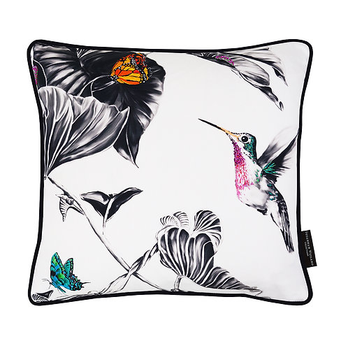 Susannah Weiland Collections - Harvey The Hummingbird Hand Embroidered Cushion