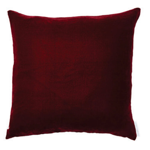 Aviva Stanoff Solid Silk Velvet Berry Cushion