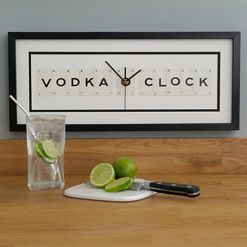 Vintage Playing Cards Clock - Vodka O'Clock