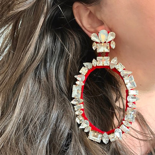 Cara Crystal Hoop Earrings by Jolita