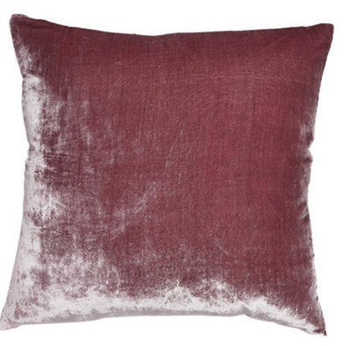 Aviva Stanoff Solid Silk Velvet Lavender Cushion