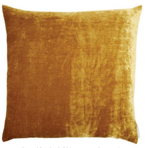 Aviva Stanoff Solid Silk Velvet New Gold Cushion