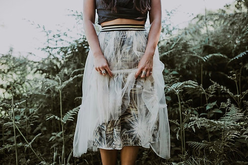 Rebecca J Mills - Breeze Print - Tulle Skirt