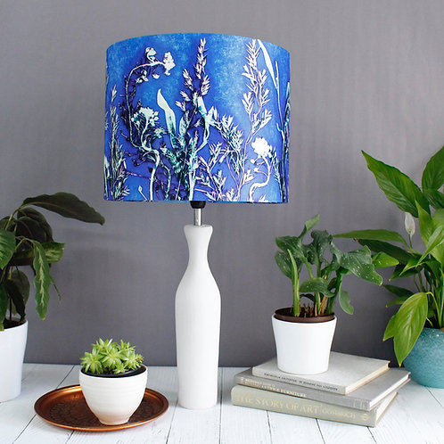 Gillian Arnold - Blue Landscape | Blue & Green Lamp Shade For The Bedroom