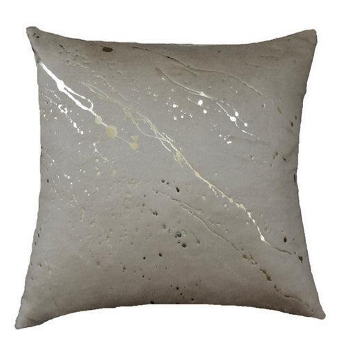 Aviva Stanoff Mod Art in Constellation in Bronze on Silk Fleece in Fawn