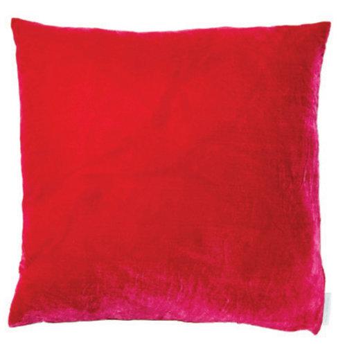 Aviva Stanoff Solid Silk Velvet Azalea Cushion