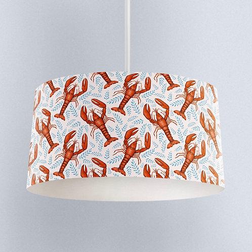 Catherine Rowe Designs Lobster Pattern Handmade to order Lampshade