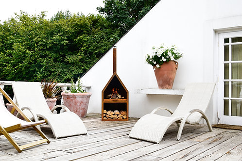 Outdoor Henley Fireplace in Rust Iron H169