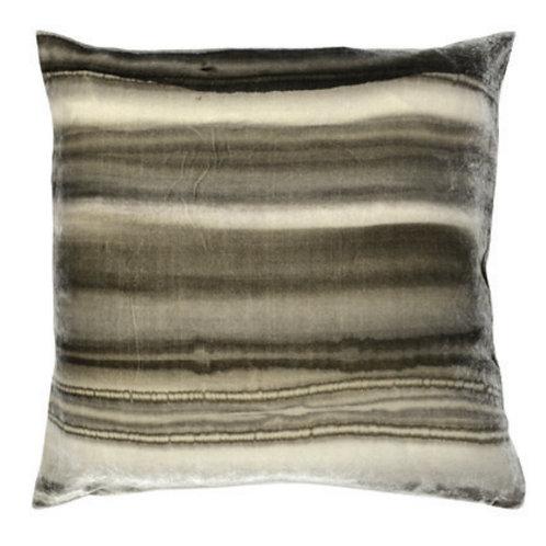 Aviva Stanoff Gravity in Borealis in Silver (Velvet) Cushion