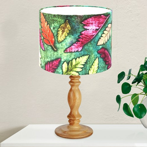 Gillian Arnold - Fern Cluster Green – Pink & Green Lamp Shade For The Home