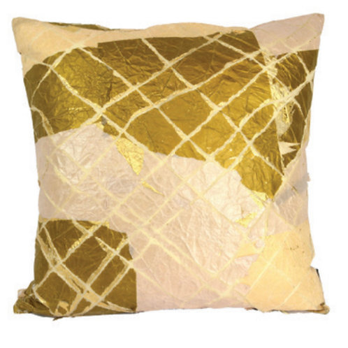 Aviva Stanoff Exotics Bronze Grid Cushion