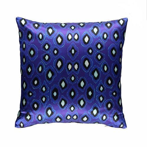 Mariska Meijers - Coco Ikat Cobalt Silk Square pillow