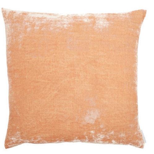 Aviva Stanoff Solid Silk Velvet Nude Cushion