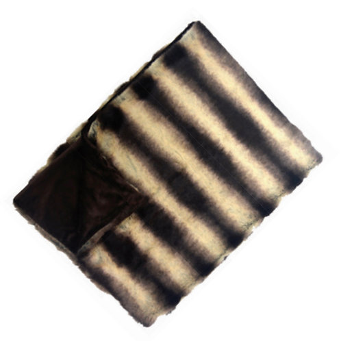 Aviva Stanoff Silver Gray Sheared Chinchilla Fur Cushion