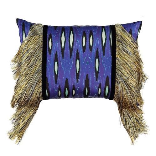 Mariska Meijers - Fringed Coco Ikat Cobalt Pillow