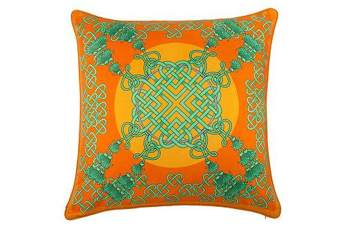 Bivain Xanadu Jade Silk Cushion