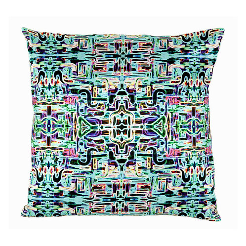 Mariska Meijers - Jungle Fever Turquoise Silk Square pillow