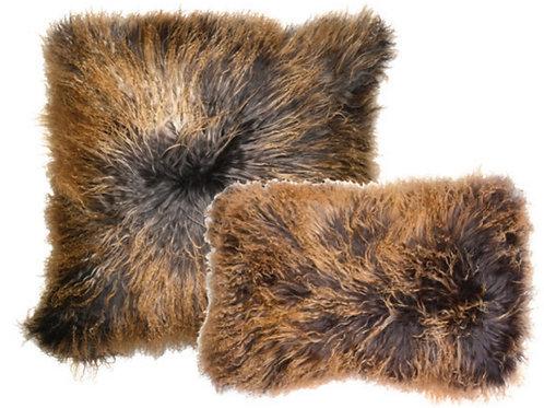 Aviva Stanoff Luxe Fur Mongolian Double Dipped Charcoal Bronze