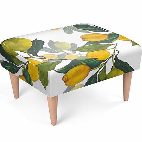 Elaine Collins Designs 'Lemon Grove' Sustainable Footstool