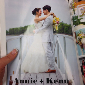 My bride made the magazine ! #makeuparti