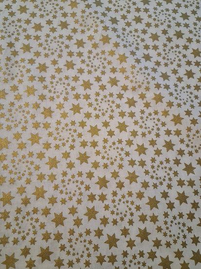 Metalic swirling  stars 🌟 100% cotton