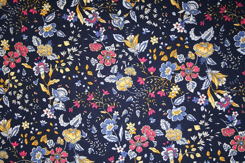 Midnight Garden 100%Cotton- Rose & Hubble