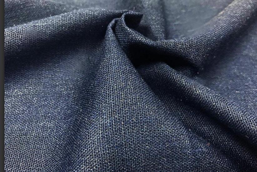 Navy linen mix