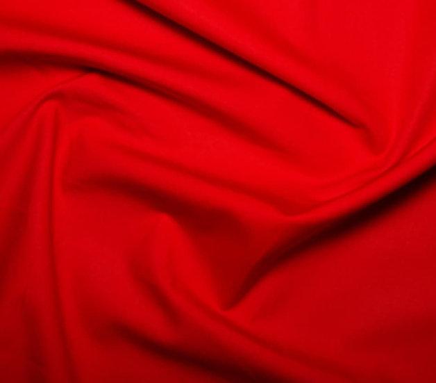 100% Cotton -Bright Red